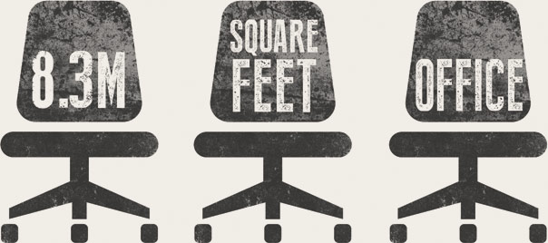 8.3 Million square feet of office space